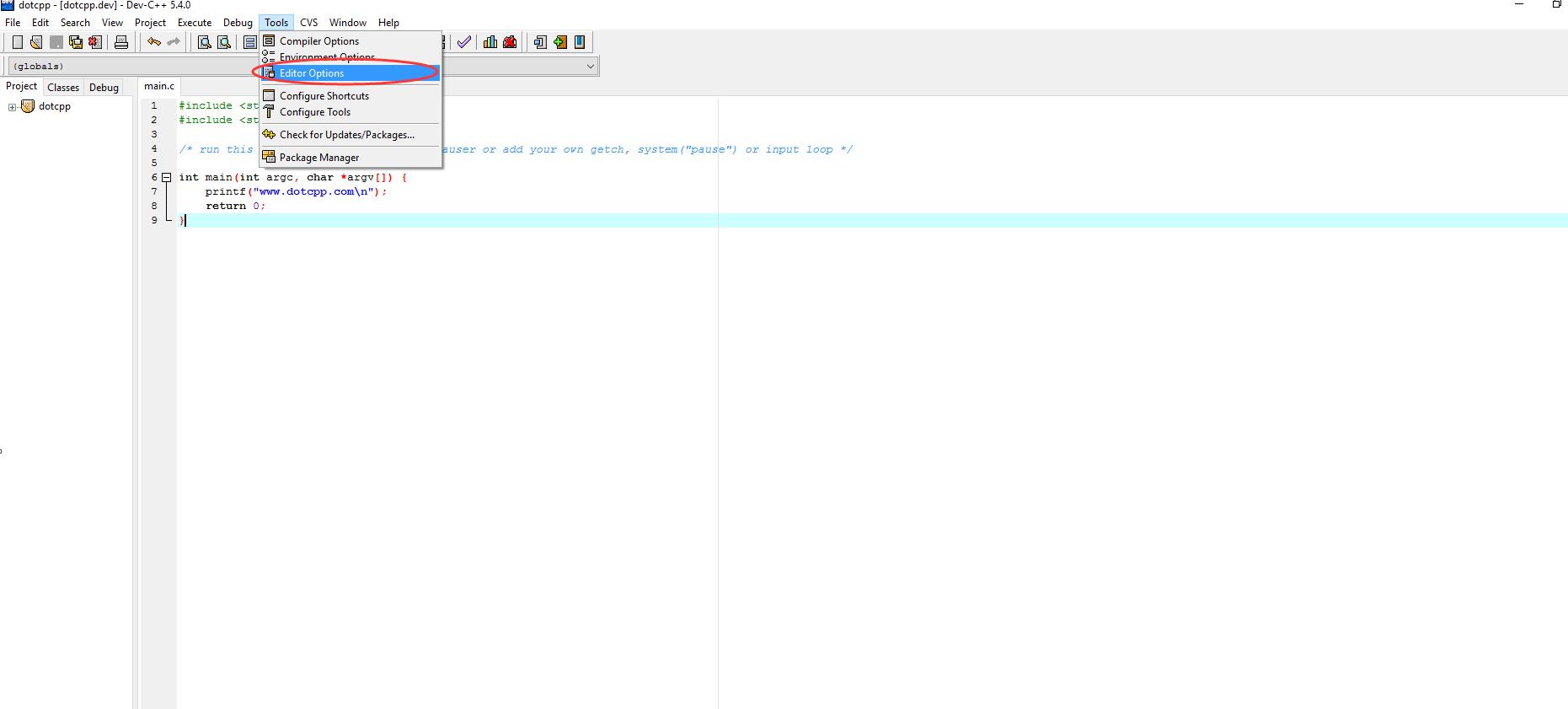 Dev-Cpp使用入门教程